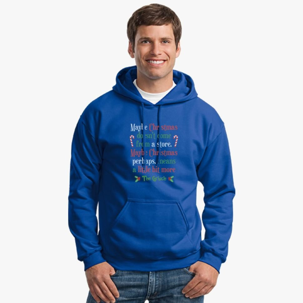 12 Days of Christmas Gift Ideas Maybe Christmas Hoodie Blue