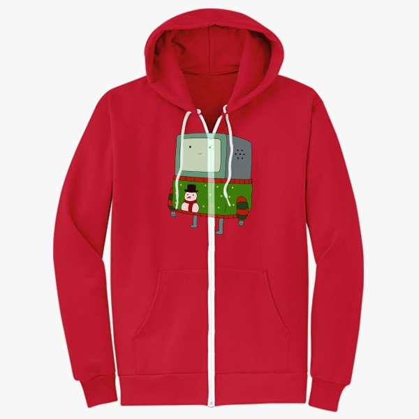 12 Days of Christmas Gift Ideas Zip Up Hoodie Red