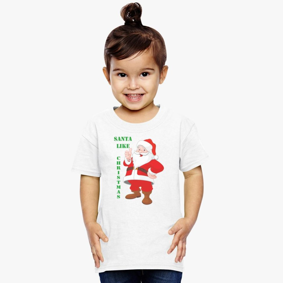 12 Days of Christmas Gift Ideas for Kids: Santa Likes Christmas Toddler T-shirt