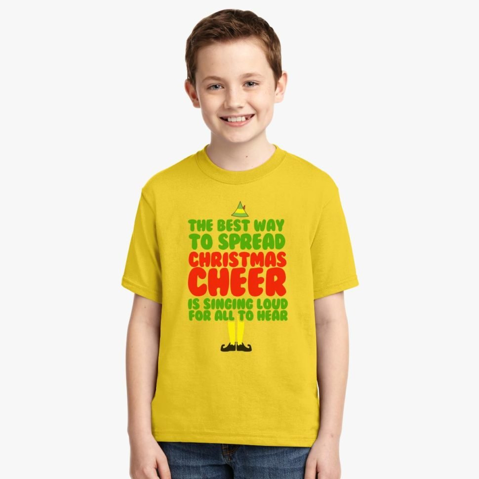 Christmas Gift Ideas for Kids Christmas Cheer Buddy Youth T-shirt