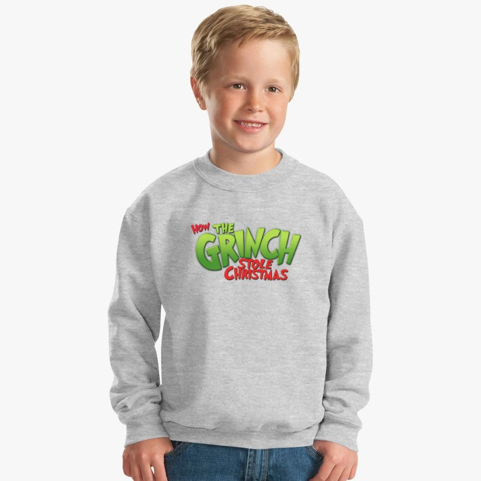 Christmas Gift Ideas for Kids How the Grinch Stole Christmas Kids Sweatshirt