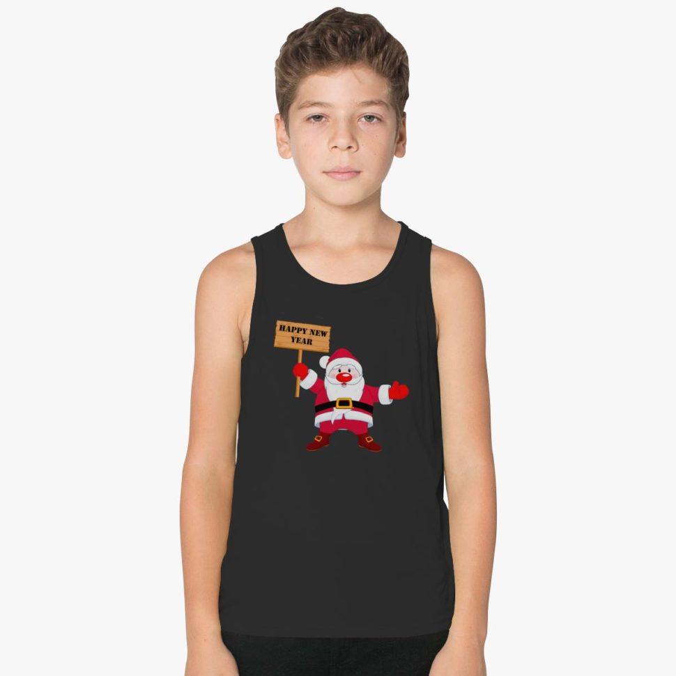 Christmas Gifts for Kids: Santa Says Happy Christmas Kids Tank Top