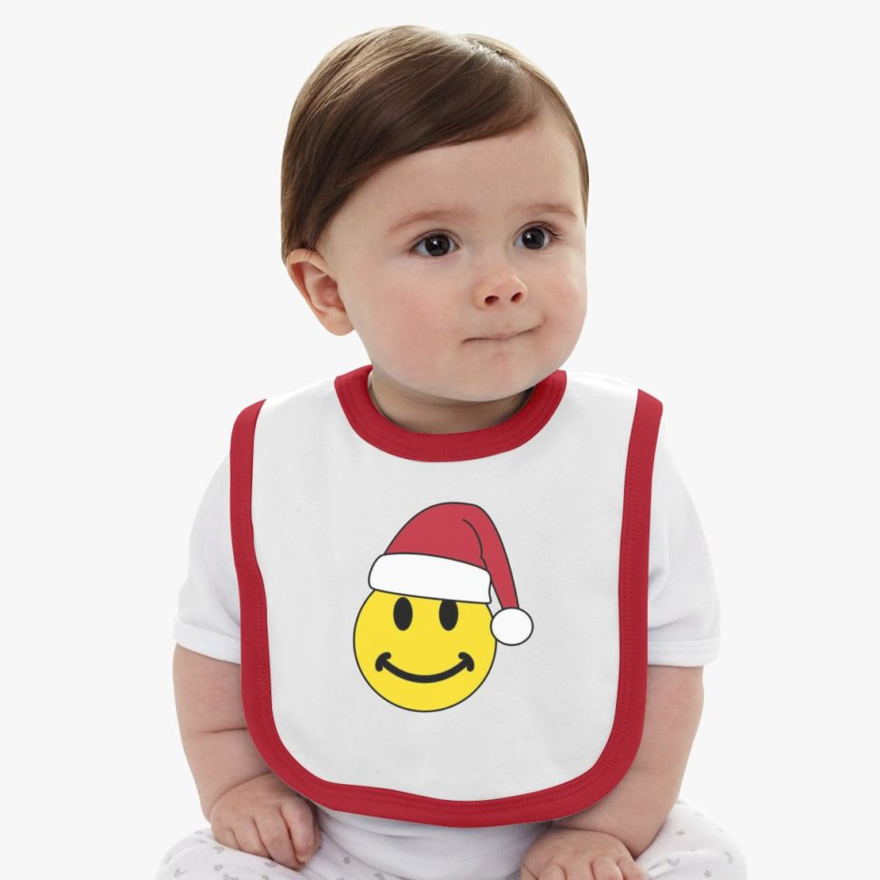 Christmas Gifts for Kids: Smiley for Christmas Baby Bib