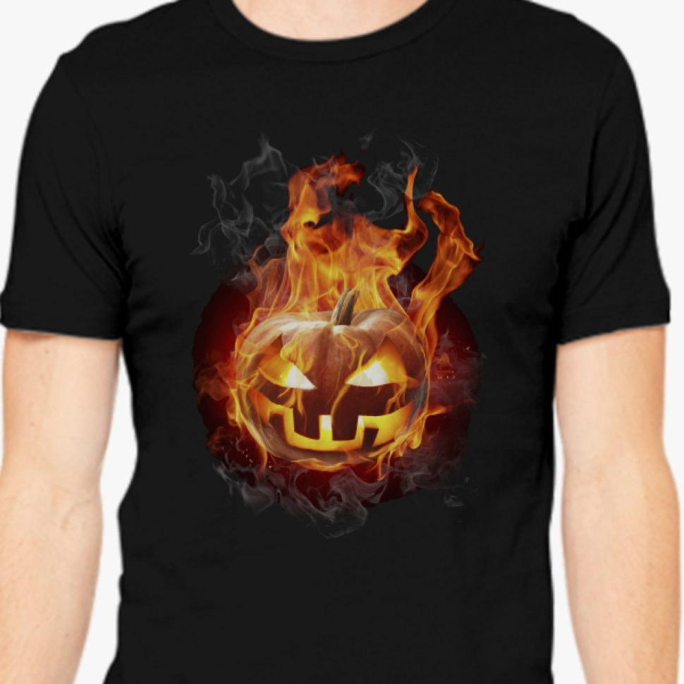 Halloween Contest 2017 Prize Winner on Customon: Burning Pumpkin Mens T-shirt