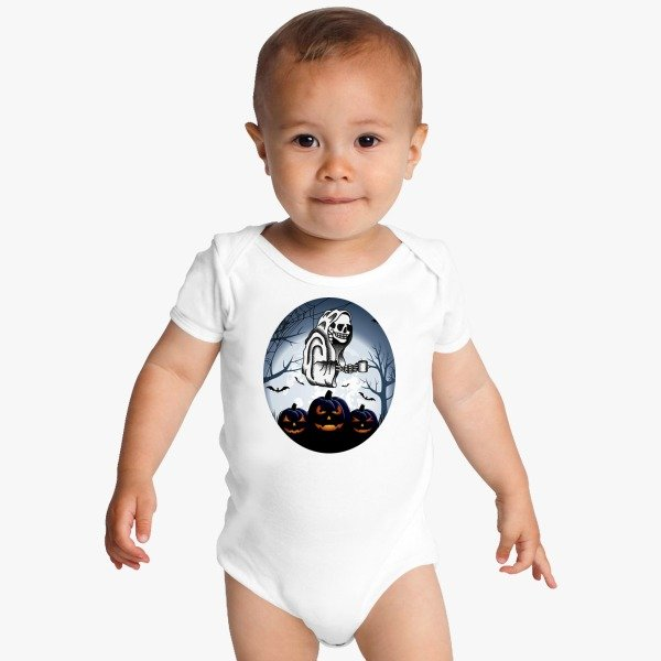 Halloween Contest 2017 Second Best Design Halloween Baby Onesies