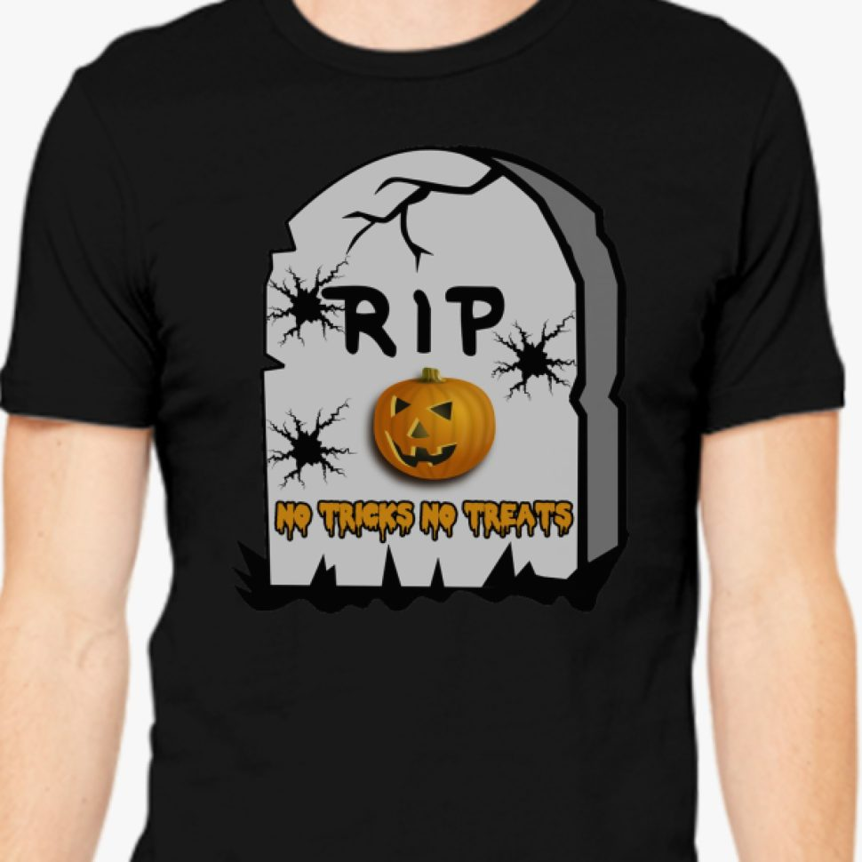 No Tricks No Treats Men's T-shirt Customon Halloween Design