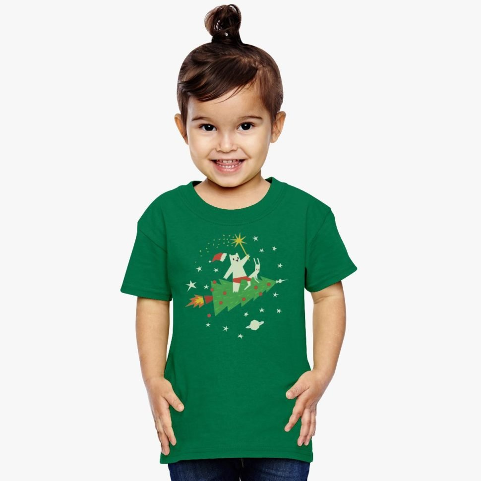 Christmas Gift Ideas for Kids who have Everything: Space Christmas Toddler T-shirt