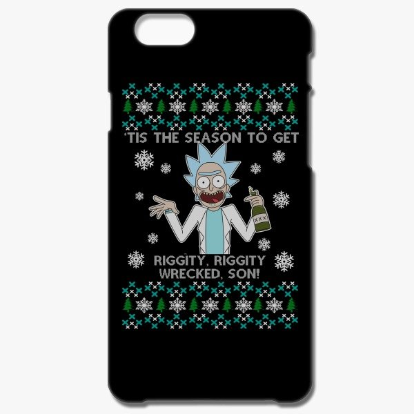 12 Days of Christmas Funny Gift Ideas Rick and Morty Christmas iPhone 6-6s Case