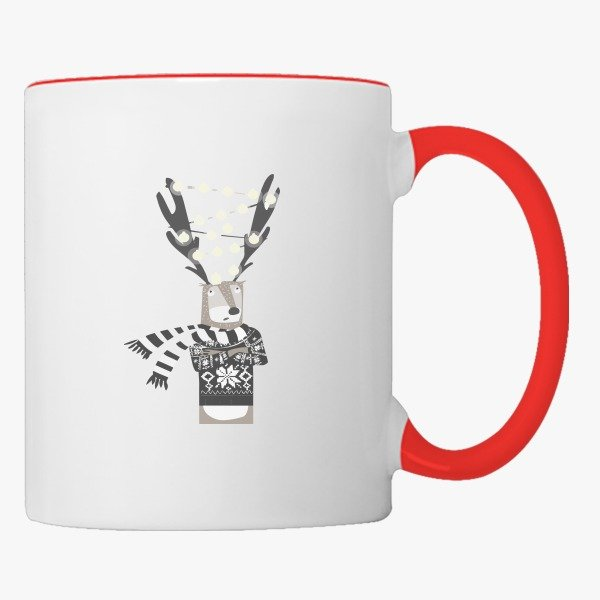 Christmas Gifts for Her Christmas Bright Reindeer Coffee Mug