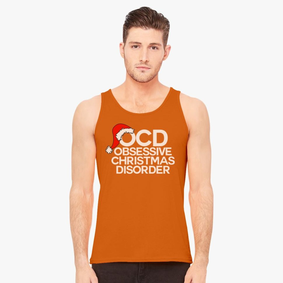 Funny Christmas Gifts Obsessive Christmas Disorder Men's Tank-Top