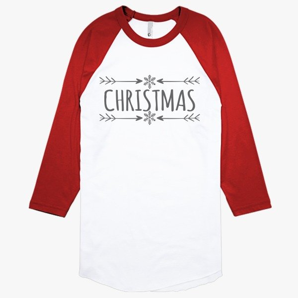 Personalized Christmas Gifts for Employees: Christmas Baseball T-shirt