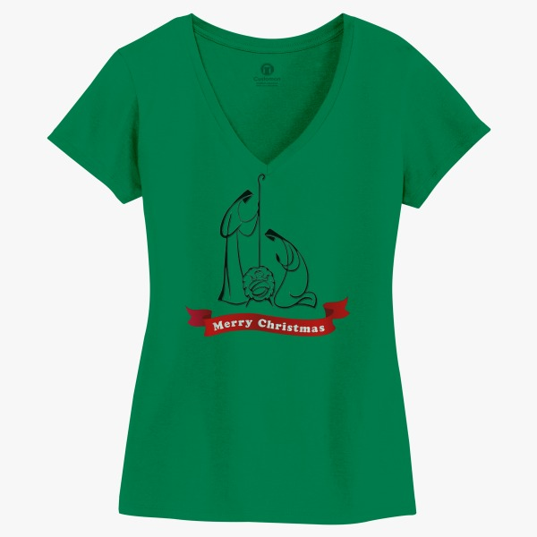 Unique Employee Gifts for Christmas Merry Christmas: Presepio Women's V-Neck T-shirt
