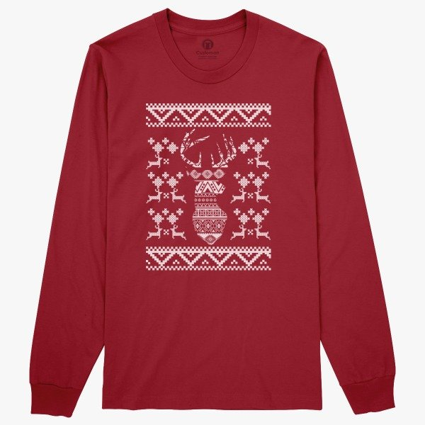 Women's Funny Ugly Christmas Sweaters Gift Idea: Ugly Sweater Long Sleeve T-shirt