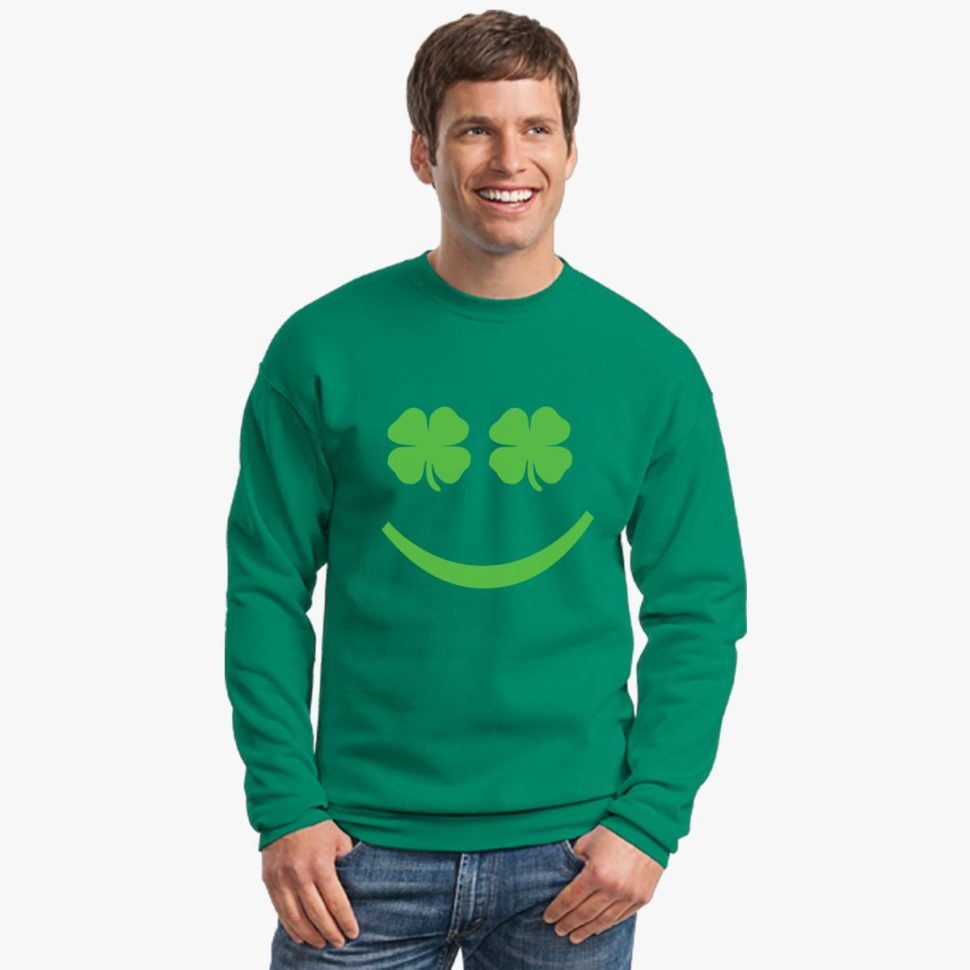 St. Patrick's Day Long Sleeve Shirts Ideas for Men: Crewneck Sweatshirt