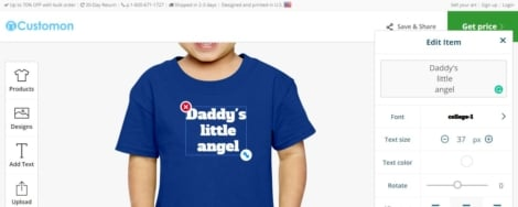 Customized toddler tshirt