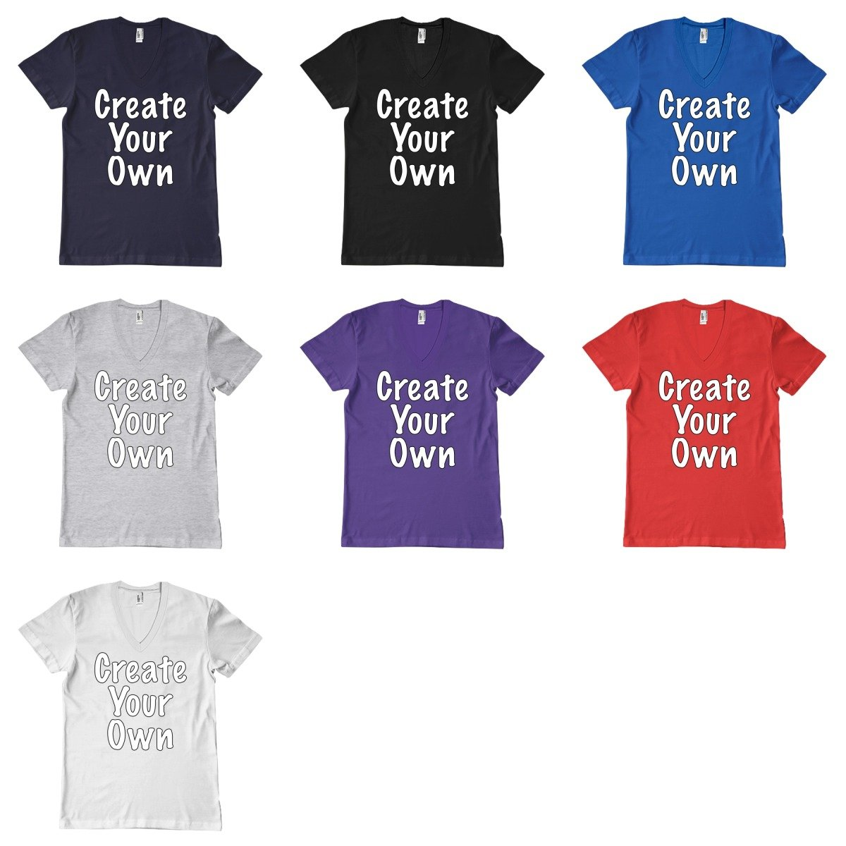 Create your own v neck t shirt ebay for Make and design your own t shirts