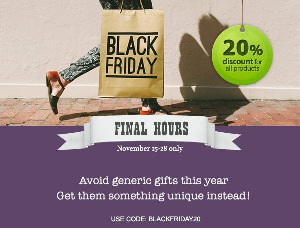 Customon Black Friday Coupon
